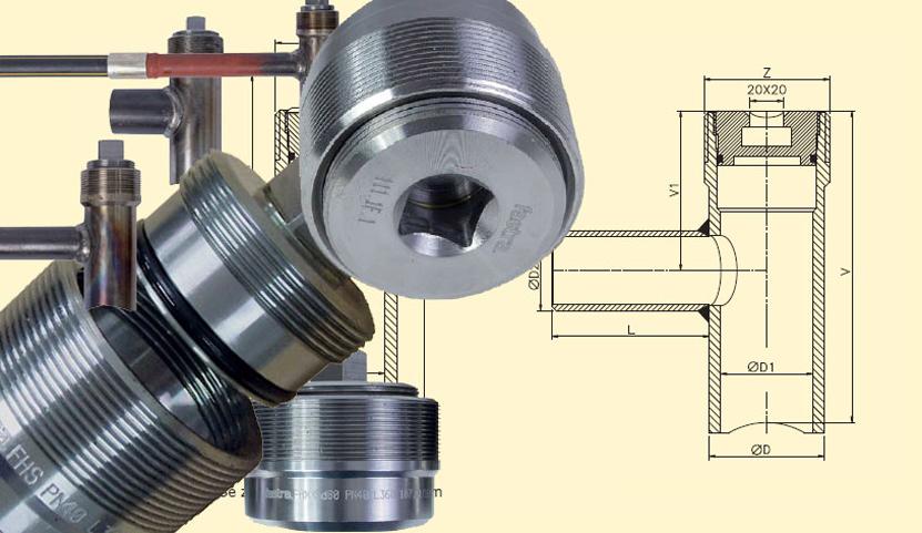 Komponenty pro potrubí z oceli